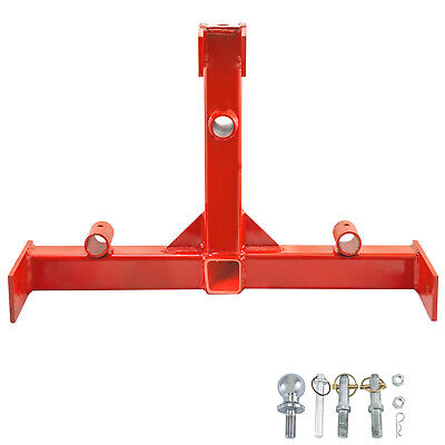 """3 Point 2"""" Receiver Trailer Hitch Category 1 Steel Standard """" Powder Coated"""