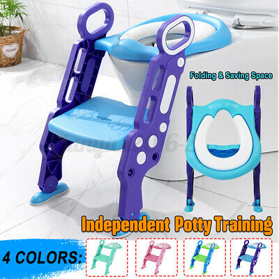 Kids Potty Training Seat with Step Stool Ladder Toilet Chair for Child
