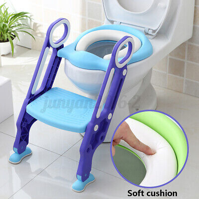 Kids Potty Train Seat with Step Stool Ladder for Children Toddler Toilet