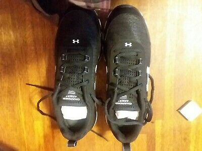 25 Under Armour Highlight Delta USA Charged Shoes White Blue 8-13 1288058-410