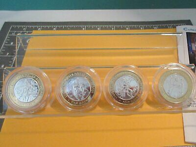 "Lot 4""Four Queens Casino-Seasons""-Silver Strikes $10. Gaming Coins-Las Vegas-Nv"