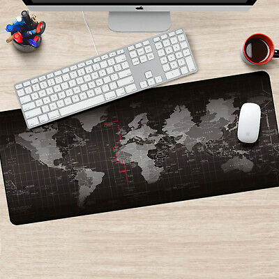 Useful Office World Map Large Cloth Extended Rubber Gaming Mouse Desk Mat UK