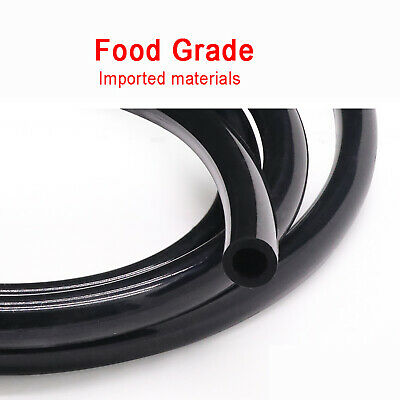 Ø2mm~25mm Food Grade Black Silicone Tube Flexible Tubing Hose Pipe Soft Rubber