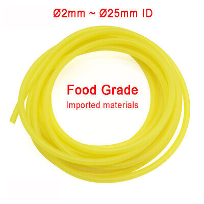Ø2mm~25mm Food Grade Yellow Silicone Tube Flexible Tubing Hose Pipe Soft Rubber