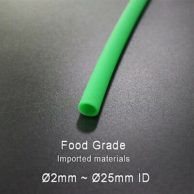 Ø2mm~25mm Food Grade Green Silicone Tube Flexible Tubing Hose Pipe Soft Rubber
