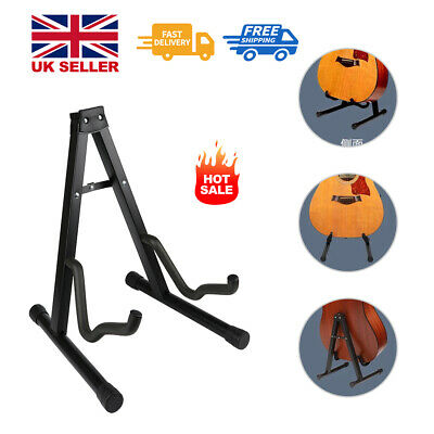 Guitar Floor Stand Holder A Frame Universal Fits Acoustic Electric Bass
