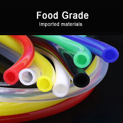 Ø2mm~25mm Food Grade Color Silicone Tube Flexible Tubing Hose Pipe Soft Rubber