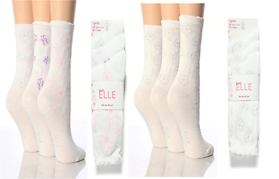 6 Pairs Girls Designer Elle Red//Brown//Silver Check Ankle Socks All Sizes YE02