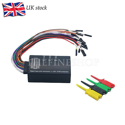 16CH Logic Analyzer Kit USB 100M Sample Rate 1.1.34 Support 1.2.10 Software -UK