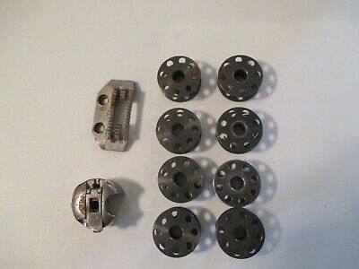 Vtg 8 Singer Sewing Machine Bobbins,149159 Singer Part 149060 Singer Bobbin Case