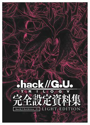""""""".hack//"""" .hack//Archives_01 LIGHT EDITION perfect analytics art book 1"""