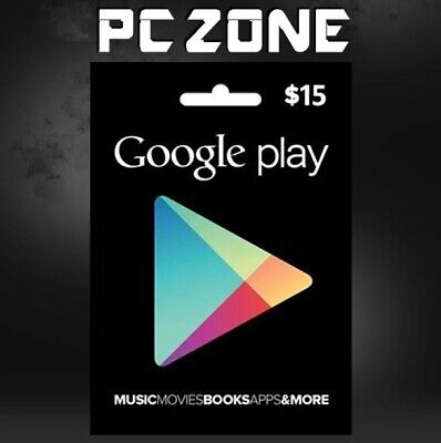 Google Play $15 USA Gift Card - 15 Dollar Google Play Store Android USD Code