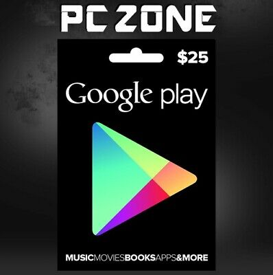 Google Play $25 USA Gift Card - 25 Dollar Google Play Store Android USD Code