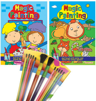 A4 Magic Painting Colouring Art Books For Children No Mess Just Use Water