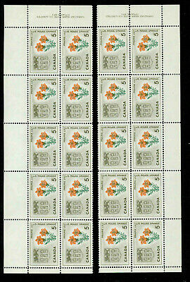 Canada 425  Matched Set Of Plate Blocks Of 10 Mnh.