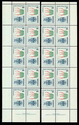 Canada 428  Matched Set Of Plate Blocks Of 10 Mnh.