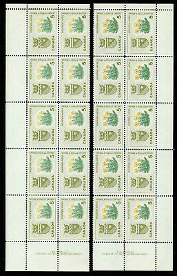 Canada 429  Matched Set Of Plate Blocks Of 10 Mnh.