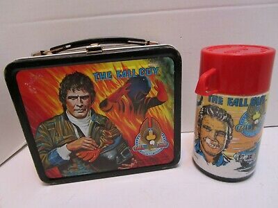 1981 Aladdin The Fall Guy  Metal Lunchbox W/Thermos