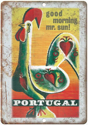 """Portugal Vintage Travel Poster 10"""" x 7"""" Reproduction Metal Sign T156"""