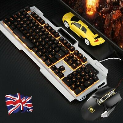 LED Backlight Keyboard and Mouse Sets With USB Mechanical Wired Gaming Ergonomic