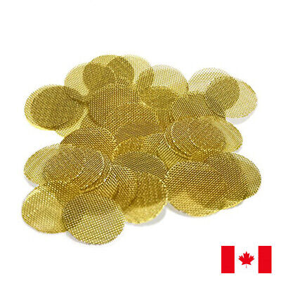 "100 Piece Gold Brass Screens 20mm 3/4"" 0.75"" Smoking Pipe Screens"