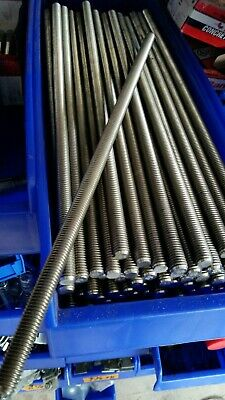 "1/2"" X 13 Stainless Steel Threaded Rods 16"""