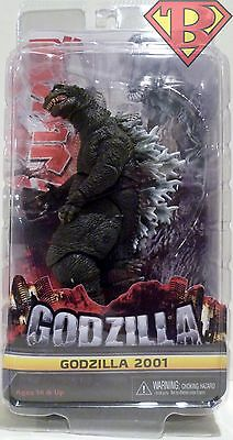 "CLASSIC GODZILLA 2001 Movie 12"" inch Head to Tail Deluxe Action Figure Neca 2016"