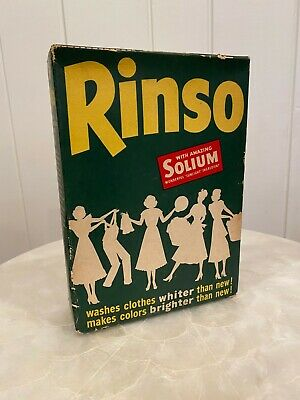 1940s Rinso Unopened Retro Soap Detergent Box