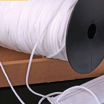 "1/8"" Round Elastic Bands Stretch Band Cord Ear Hanging 240 yards/roll 10310750"