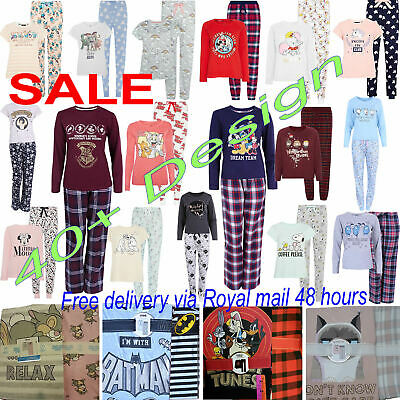 Primark Pyjamas Ladies Disney Pajama PJ's Women's PJs TShirt Bottom Girls Pyjama