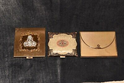 Lot Of 3 Vintage Makeup Compacts Volupte Coty
