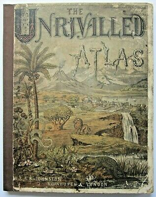 1883 Unrivalled Atlas Johnston Prussia US Indian Territory Australia  Explorers