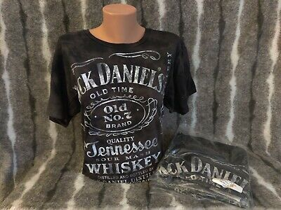 Jack Daniels Old Time No. 7 Brand Exclusive Black Birthday t-Shirt LG 2 sided