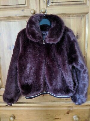 Mayoral Girls reversible Coat with faux fur age 14