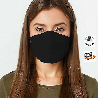 Face Cover Mask Adults 100% Cotton Washable Reusable Double Layers Made In USA