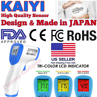 IR Infrared Digital Thermometer Non-Contact Forehead Baby /Adult Body Fever Gun