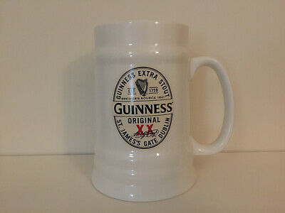 GUINNESS XX Original Vintage White Ceramic Pint Tankard Unused New Collectable