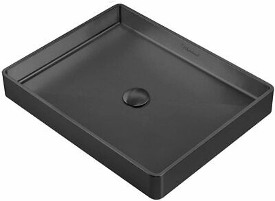 Whitehaus WHNPL1578-MBLK Noah Plus 10 gauge frame Rectangular Matte Black