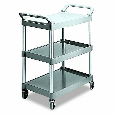 Rubbermaid Commercial Products HD 3 Shelf Rolling Service/Utility/Push Cart