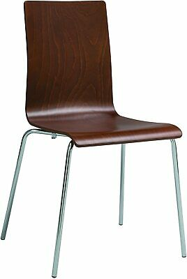 Safco Products Bosk Bentwood Stack Guest Chair, Cherry