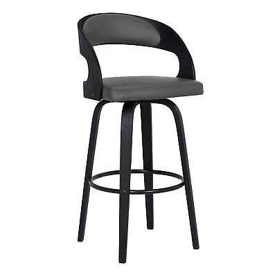 Armen Living Arctic Bar Stool, Counter Height, Grey