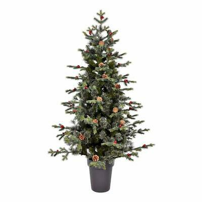 "Vickerman Potted Timberline Pine Christmas Tree, 5' x 41"", Green"