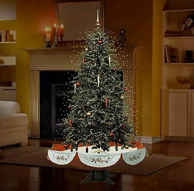"Fraser Hill Farm 55"" Musical Tree Red Base Snow Function Christmas Decoration"