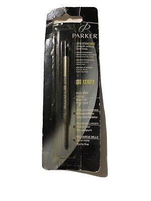 PARKER FINE POINT BLACK INK BALLPOINT REFILL-SEALED NEW OLD STOCK.
