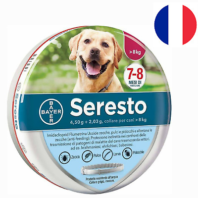 Seresto Collier Antiparasitaire Grand Chien Anti Puce Protection Anti Tique Neuf
