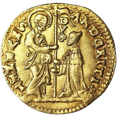 1523-39 Italy Venice Doge Andrea Gritti Gold Ducat Zecchino NGC AU58