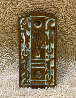 Antique Vintage Fancy Bronze Eastlake Victorian Key Hole Keyhole Cover