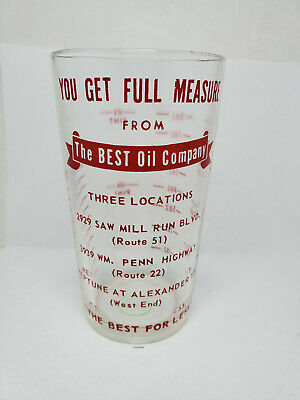 Vintage advertising measuring glass - Best Oil Company (1241)