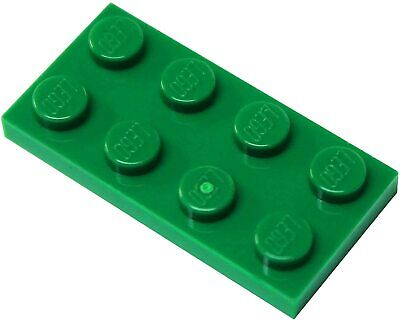 Flat 1x2 Green Lime Sanguigno Green, File New New 10 x lego 3023 Plate