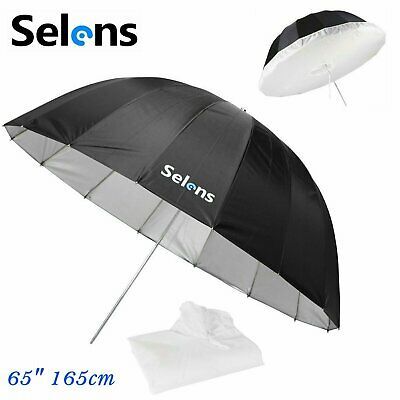 Selens 165cm Parabolic Reflective Umbrella + Diffuser Cloth f Photo Studio Light